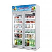 China Upright Slide Glass Door Freezer Showcase For Commercial Automatic Defrost Type wholesale