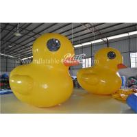 China 22 OZ PVC Inflatable Water Toys Giant Inflatable Yellow Duck For Advertising wholesale