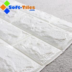 China 3D Brick Thicken Soft PE Foam Wall Sticker Panels Wallpaper Decor Stone Marble colour on sale