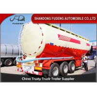 China Double Cabin Cement Tanker Trailer / Cement Bulk Trailer With ABS Brake System wholesale