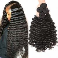 China Deep Curly 100% Cambodian Virgin Human Hair Extensions For Black Ladies wholesale