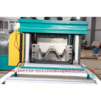 China 380V , 3 Phase 50Hz Two Wave Guardrail Roll Forming Machine for Highway Guardrails Export to Macedonia wholesale