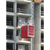 China Electric Building / Construction Material Lifting Hoist Single Cage with Cable Trolly on sale