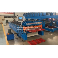 China Hydraulic Automatic Color Steel Metal Tile Sheet Roof Steel Glazed Roll Forming Machine wholesale
