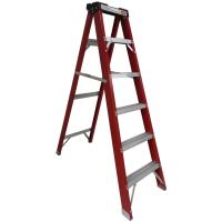 Buy cheap Fiberglass wide step ladder with tool tray from wholesalers