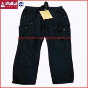 China Mens casual six pockets long pant garmnet dyed wholesale