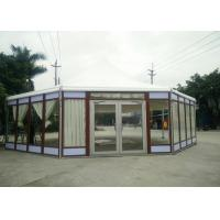China Octagonal Marquee Party Tent Wood Grain -30 To 70 °C Temperature Resistance wholesale