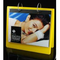 China calender style acrylic block photo frame yellow wholesale