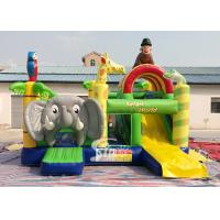 China Safari World Jungle elephant Inflatable Bouncy Castle for kids Outdoor N Indoor Playground Fun wholesale
