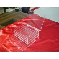 China 3 Mm Clear Acrylic Storage Boxes With Three Drawers For Jewelry wholesale