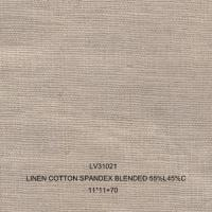 China Linen linen hemp ramie blended spandex fabric LV31021 wholesale