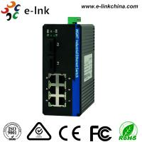 China Managed Industrial Ethernet Media Converter with 2 100Base-FX ports and 6 10 / 100Base-T(X) ports wholesale