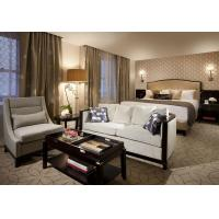 Quality Leather King Size Bed Hotel Furniture Set / 5 Star Hotel Furniture for sale