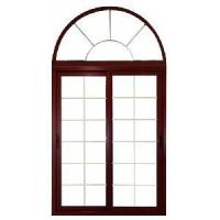 China Double Panels Sliding Door with Arc on sale