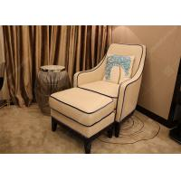 China Luxury Customized Hotel Lounge Chairs High Back Wooden Frame Grey High Density Foam wholesale