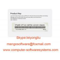 China FPP Microsoft Office Key Code 2016 Home And Business COA License Sticker on sale