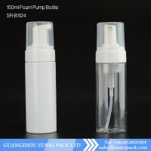 China 150ml Foaming Face Wash bottle, clear plastic bottle with foam pump wholesale
