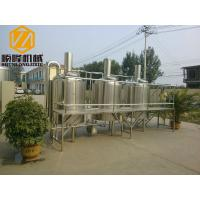 China Stainless Steel 200 Litre Brewing System 3 / Single Phase With PLC Control wholesale
