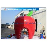 China Fashionable Red Custom Inflatable Apple , Large Inflatable Advertising Products on sale