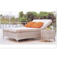 China 2 persons rattan wicker daybed sunbed with side table   ---5027 wholesale
