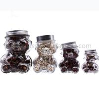 Buy cheap 50ml,80ml,150ml,300ml Clear Bear Style Glass Honey Jars With Lids from wholesalers
