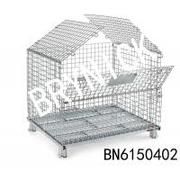"""China 4 Gauge Collapsible Wire Container With Lockable Hinged Lids  40"""" Long X 32"""" Wide wholesale"""