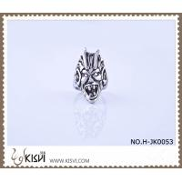 China Hot Selling 316l Stainless Steel Death's - Head Ring With Competitive Price H-JK0053 wholesale