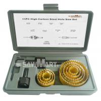 Buy cheap Carbon Hole Saw Set with Mandrel (11-Piece) from wholesalers