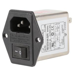 China 10A 6A 3A Plug In RFI Filter Low Pass IEC Socket Inlet Three In One wholesale