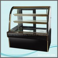 China Commercial Flat Top Cake Display Freezer force air cooling hole wholesale