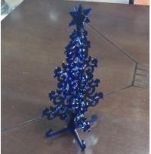 China Blue christmas tree  pop display stand , transparent christmas decoration wholesale