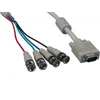 China VGA HD15 Male to 4-BNC Male Monitor Cable with Ferrites wholesale