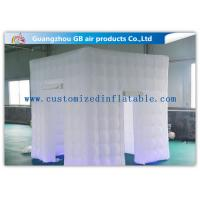 China White Big 2.4 X 2.4m Inflatable Led Photo Booth For Parties Or Wedding wholesale