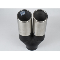 China Carbon Fiber 60mm Inlet 90mm Outlet Dual Exhaust Muffler Tip wholesale