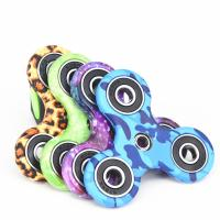 China New EDC Tri-Spinner Fidget Spinner Toys Camouflage Pattern Hand Spinner Plastic ADHD Adults Children Education wholesale