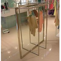 China Stainless Steel Clothes Display Hanging Rack Metal Clothes Stand With ODM / OEM Service wholesale