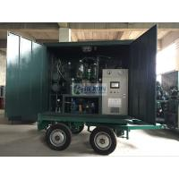 China High Vacuum Transformer Oil Filtration Machine For Dielectric Oils 6000LPH ZYD-WM-100 on sale