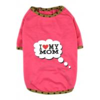China Best Sell I Love My Mom/Dad Printed Dog Puppy Clothes Shirt Dress Pet Costumes wholesale
