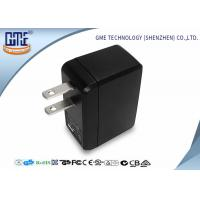 China Black Color Universal USB Travel Adaptor 90V  - 264V AC For Cell Phone wholesale