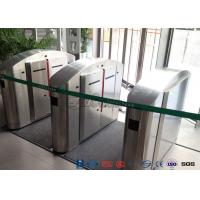 China TCP / IP Flap Turnstile Security Gate Access Control Wheelchair Lanes For Subway Doors wholesale