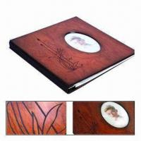 China 12-inch Wooden Cover Wooden Photo Album with Screw Post Bound Binding Style wholesale