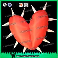 China Factory Lovely Big Red Inflatable Heart With Led Lights For Festival , Diameter 1.5M wholesale