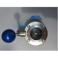 China Sanitary Stainless Steel Butterfly Valve with Tri-Clamp Ends (ACE-DF-3T) wholesale