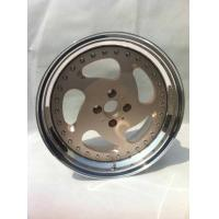 China BSL17 inch golf cart wheels Gold center wheels 3 piece forged wheels step outer lip polish wholesale