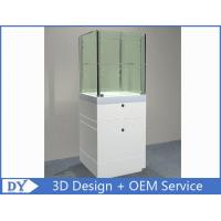 China Custom  Big Size Gloss White Jewerly Display Cases With Cabinet wholesale
