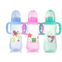 China Colored baby feeding bottles with Handles , milk bottle for baby Normal Neck wholesale