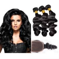 China Black Color 100 Virgin Cambodian Loose Curly Hair With Baby Hair Natural wholesale