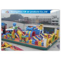 China Safety Octopus Party Style Inflatable Amusement Park With Slide For Fun Games wholesale