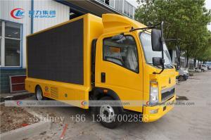 China SINOTRUK HOWO 4X2 light truck P4 P5 P6 P8 LED Advertising Truck wholesale