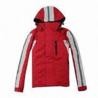 China PU-coated children's ski jacket with hood, waterproof and breathable wholesale
